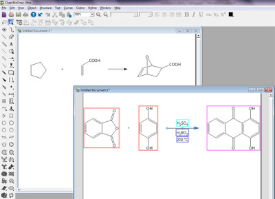 Capture d'écran du logiciel ChemDraw